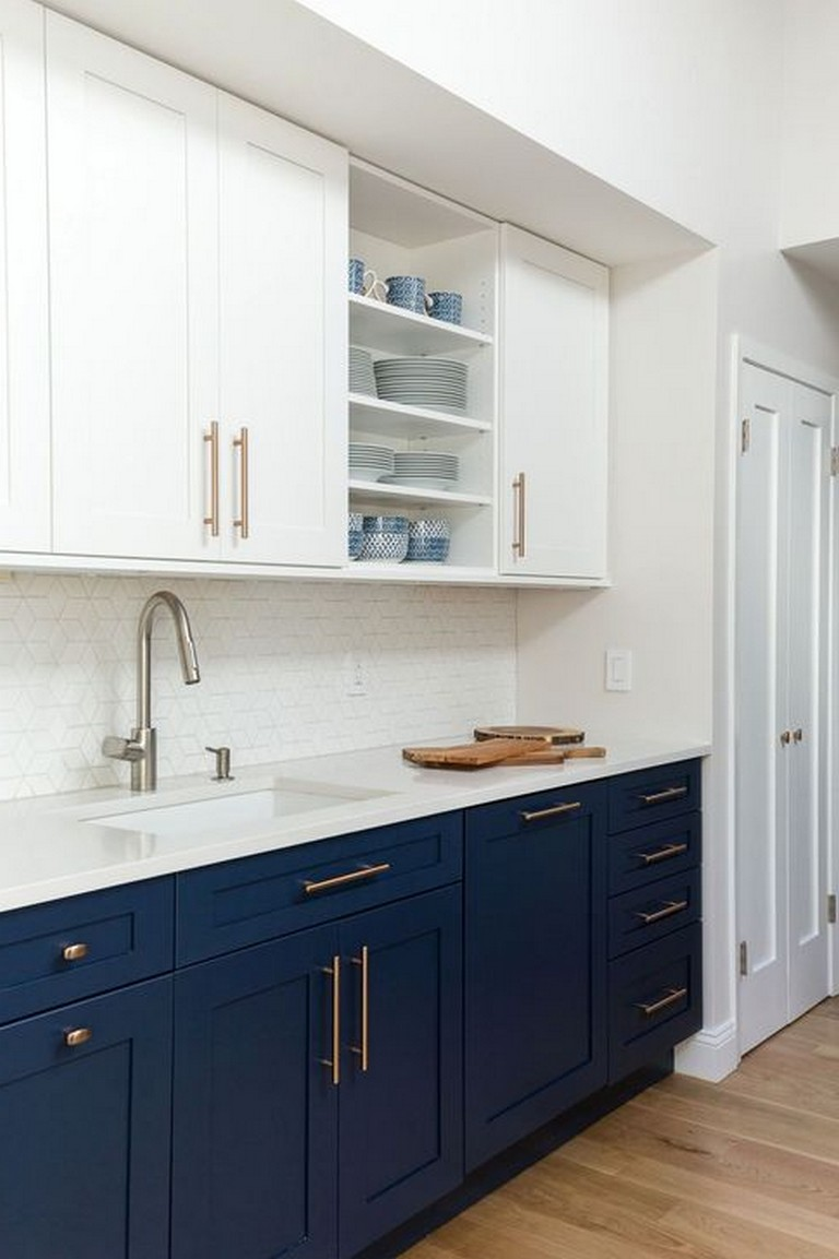 40 amazing navy kitchen cabinets for decorating your